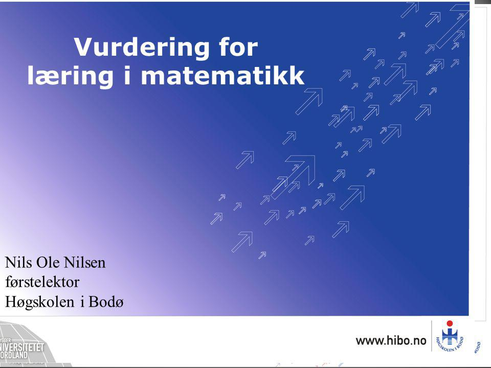 Vurdering for læring i matematikk