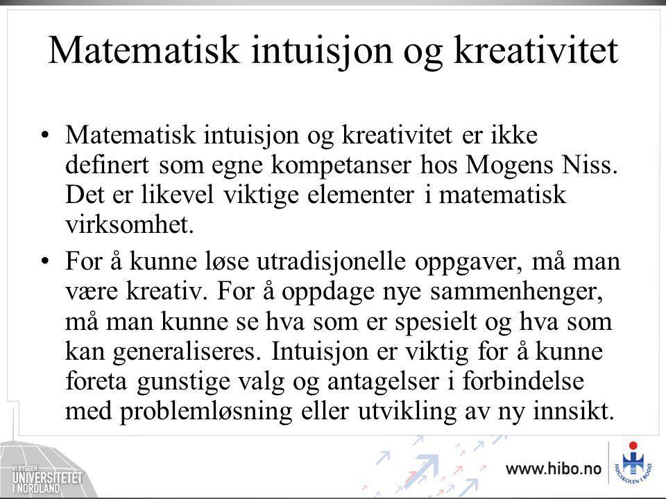 Matematisk intuisjon og kreativitet