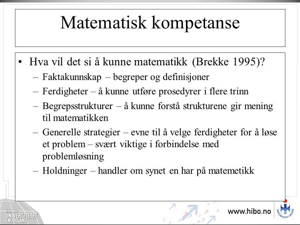Matematisk kompetanse