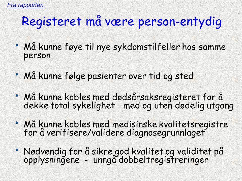 Registeret må være person-entydig