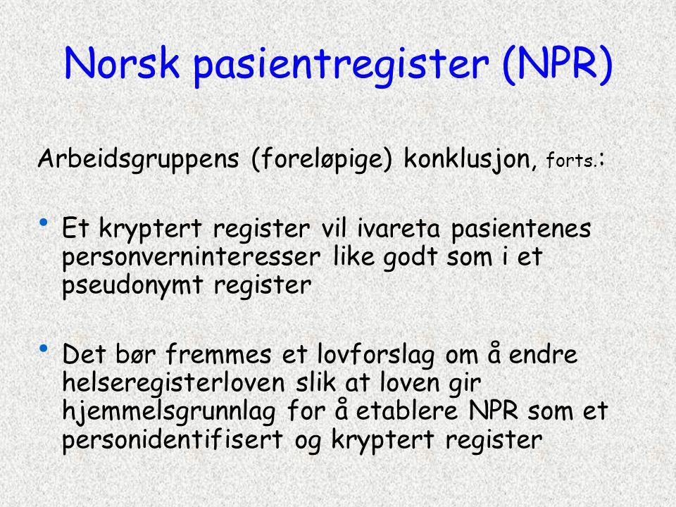 Norsk pasientregister (NPR)