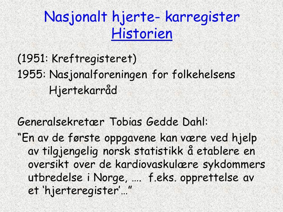 Nasjonalt hjerte- karregister Historien