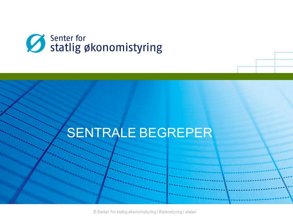 SENTRALE BEGREPER © Senter for statlig økonomistyring I Risikostyring i staten
