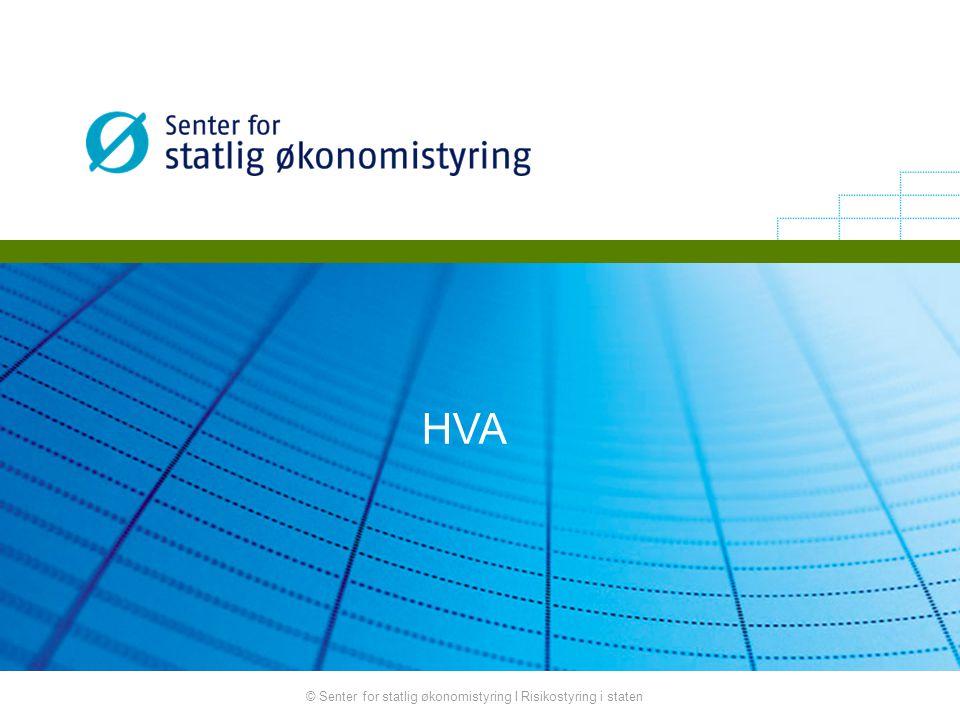 HVA © Senter for statlig økonomistyring I Risikostyring i staten