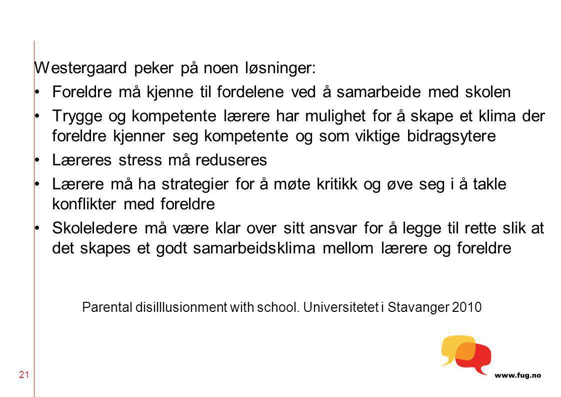 Westergaard peker på noen løsninger: