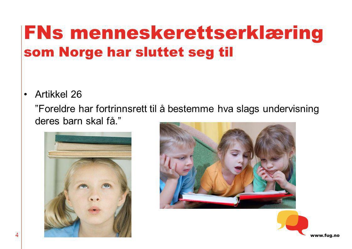 FNs menneskerettserklæring som Norge har sluttet seg til