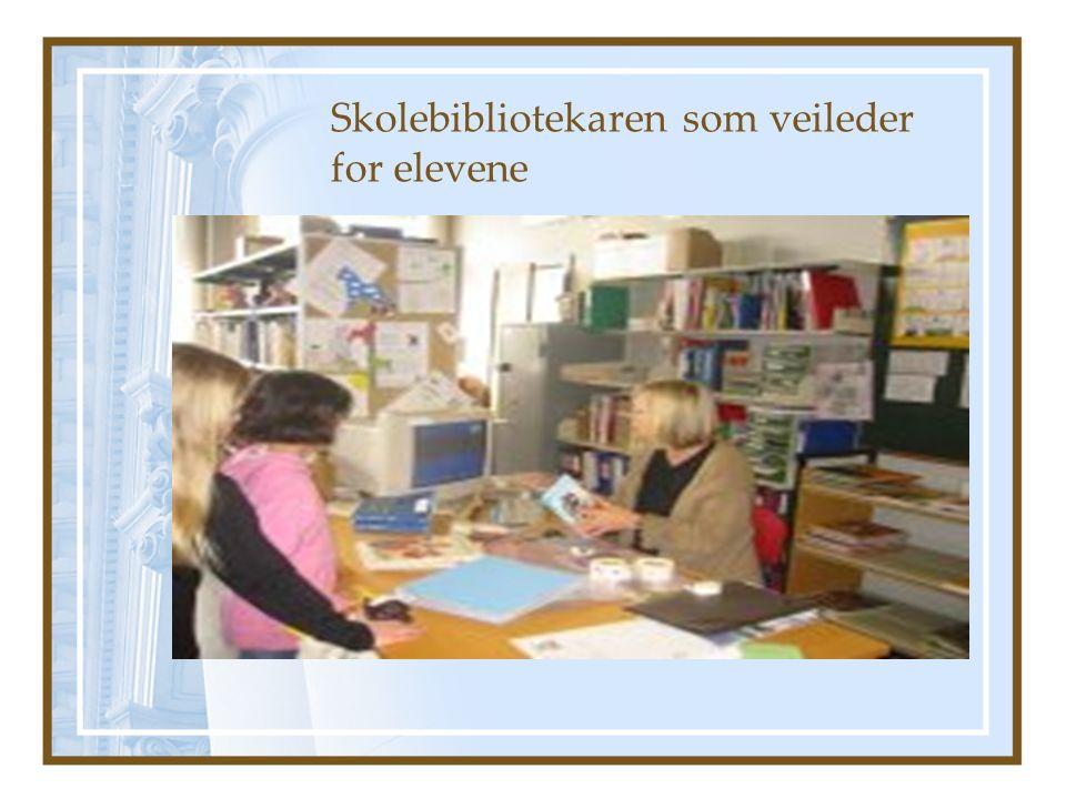 Skolebibliotekaren som veileder for elevene