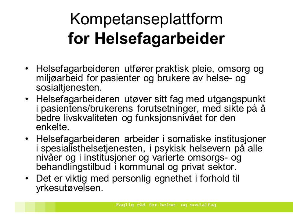 Kompetanseplattform for Helsefagarbeider