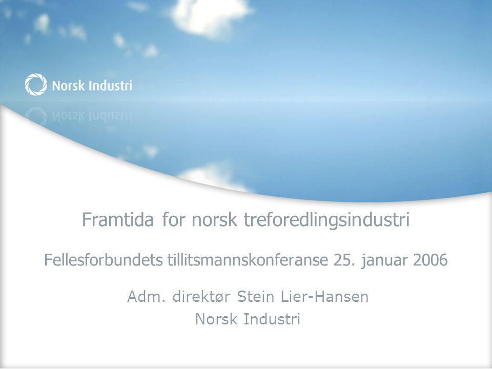 Adm. direktør Stein Lier-Hansen Norsk Industri