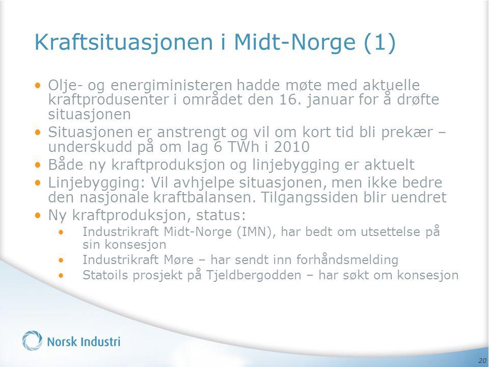 Kraftsituasjonen i Midt-Norge (1)
