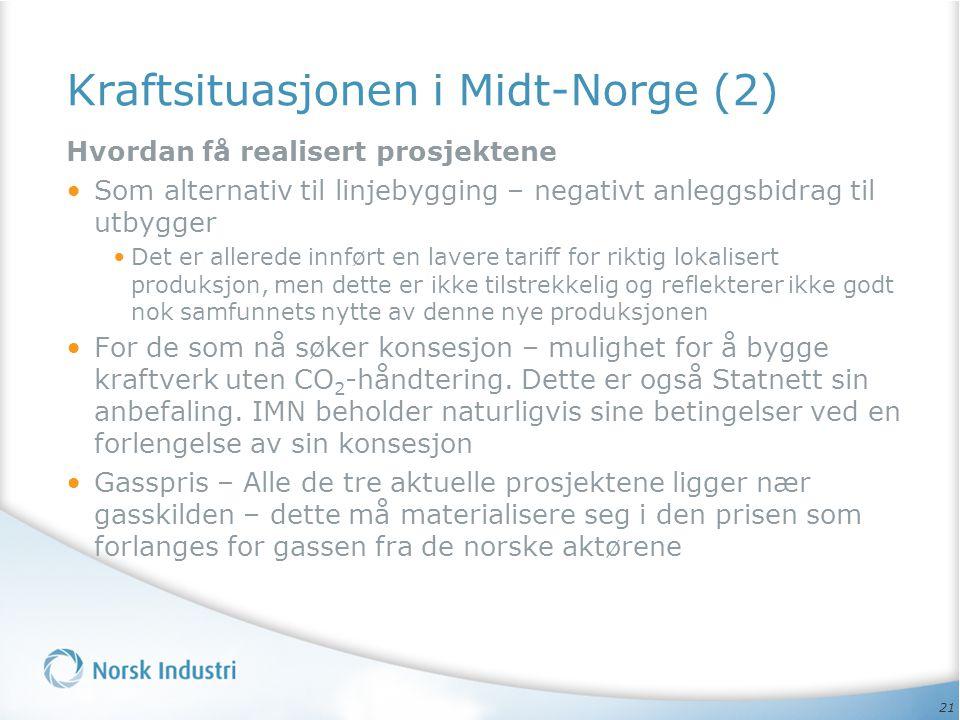 Kraftsituasjonen i Midt-Norge (2)