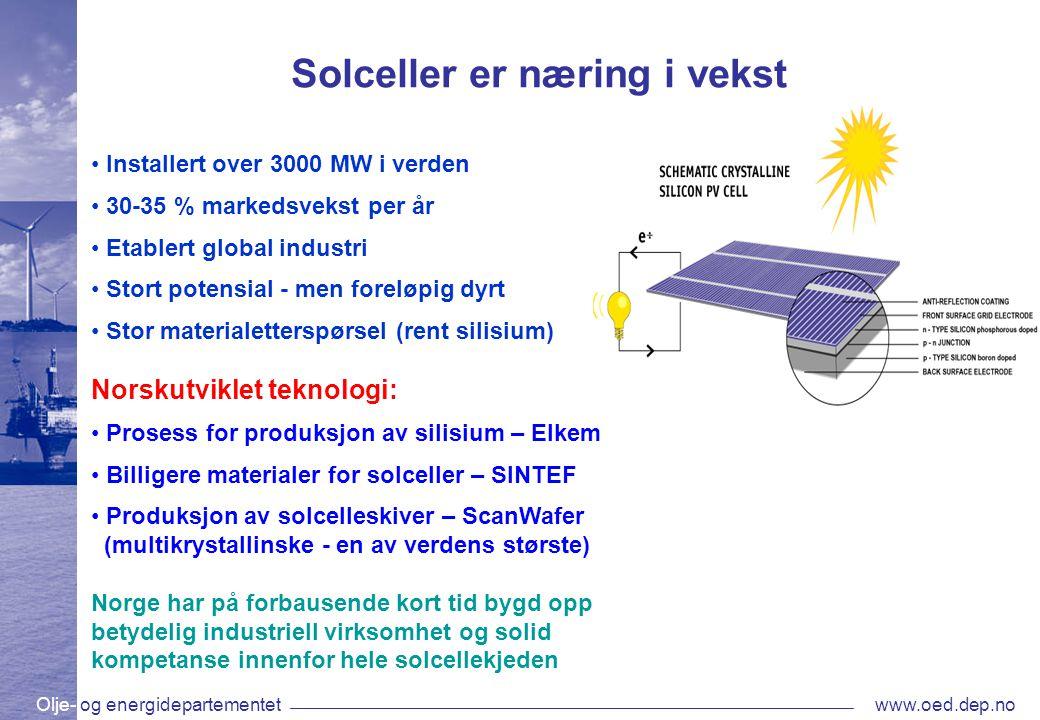 Solceller er næring i vekst