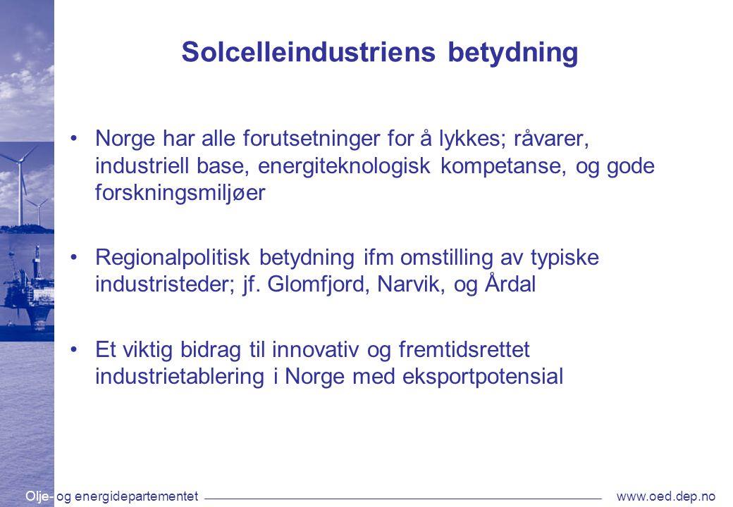 Solcelleindustriens betydning