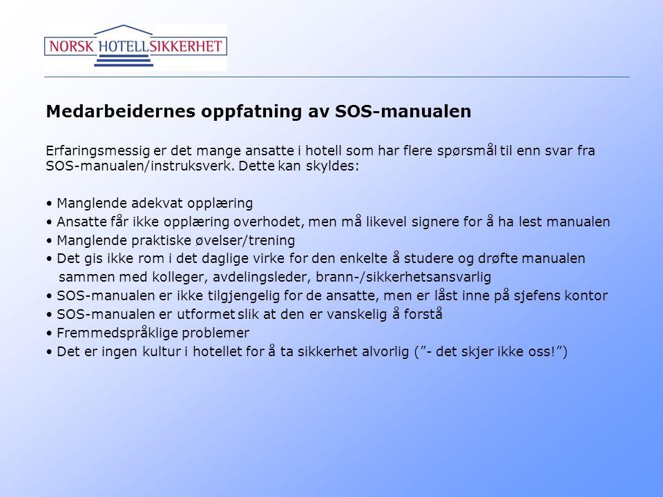 Medarbeidernes oppfatning av SOS-manualen