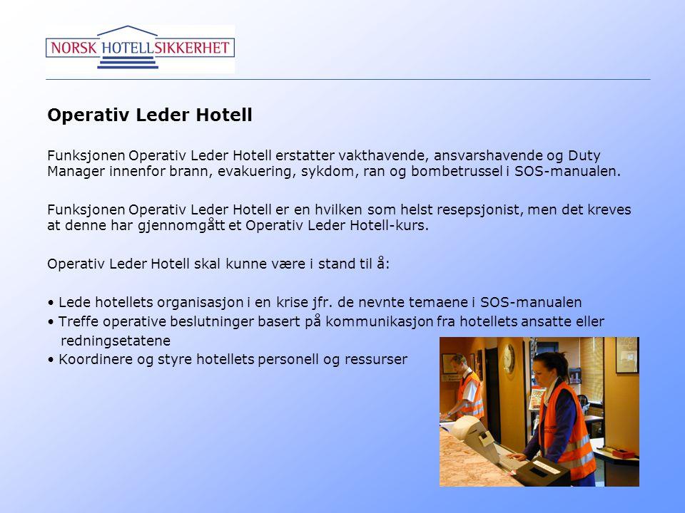 Operativ Leder Hotell