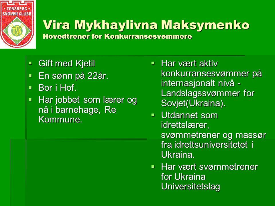 Vira Mykhaylivna Maksymenko Hovedtrener for Konkurransesvømmere