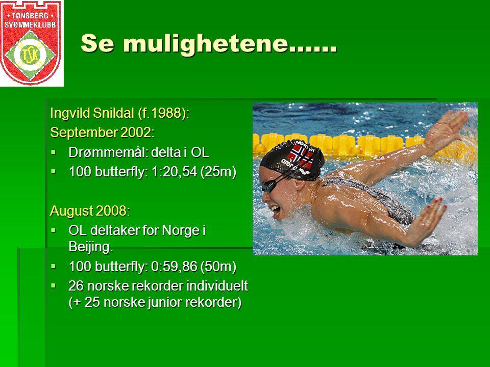 Se mulighetene…… Ingvild Snildal (f.1988): September 2002: