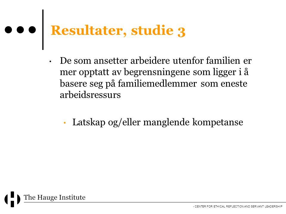 Resultater, studie 3