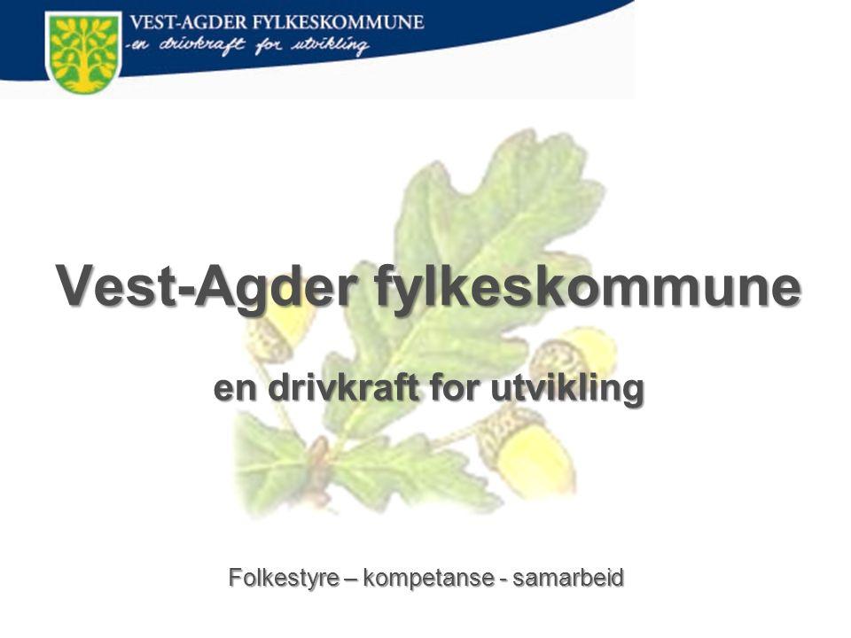 Vest-Agder fylkeskommune en drivkraft for utvikling