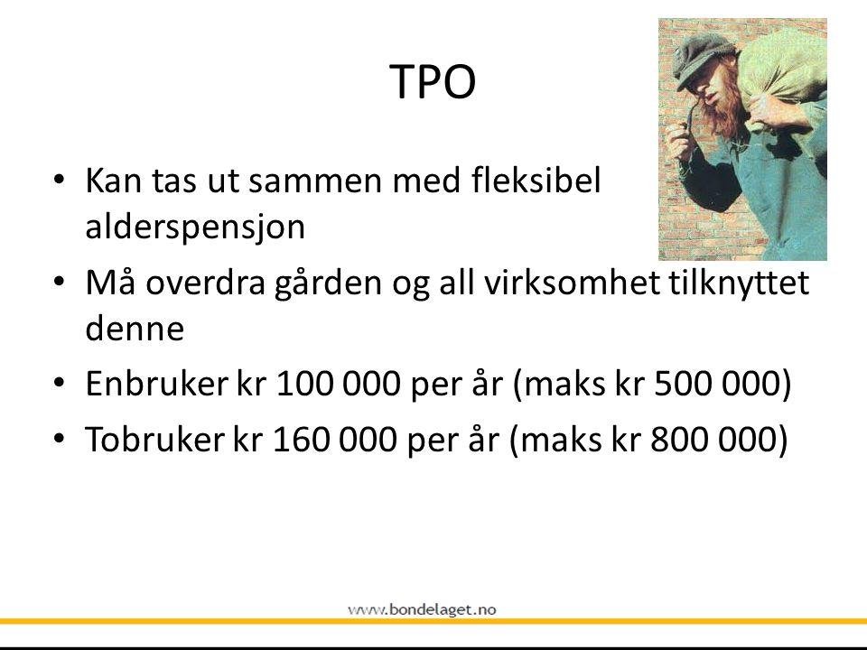 TPO Kan tas ut sammen med fleksibel alderspensjon