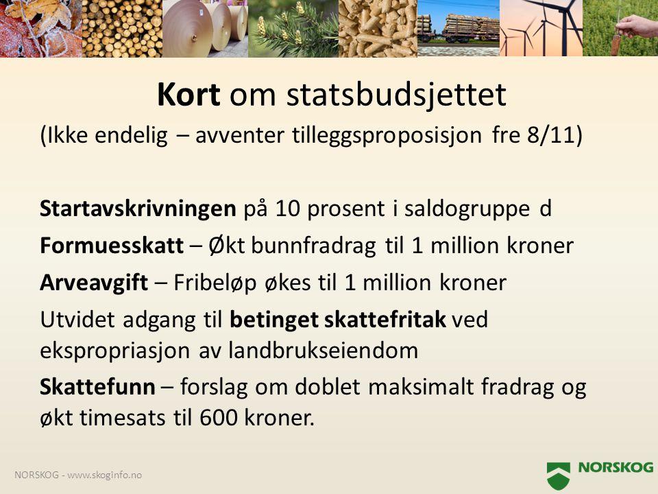 Kort om statsbudsjettet