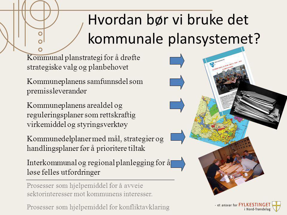 Hvordan bør vi bruke det kommunale plansystemet