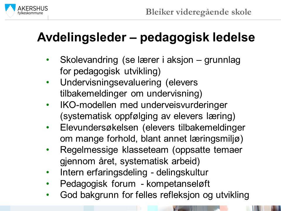 Avdelingsleder – pedagogisk ledelse