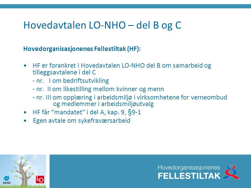 Hovedavtalen LO-NHO – del B og C