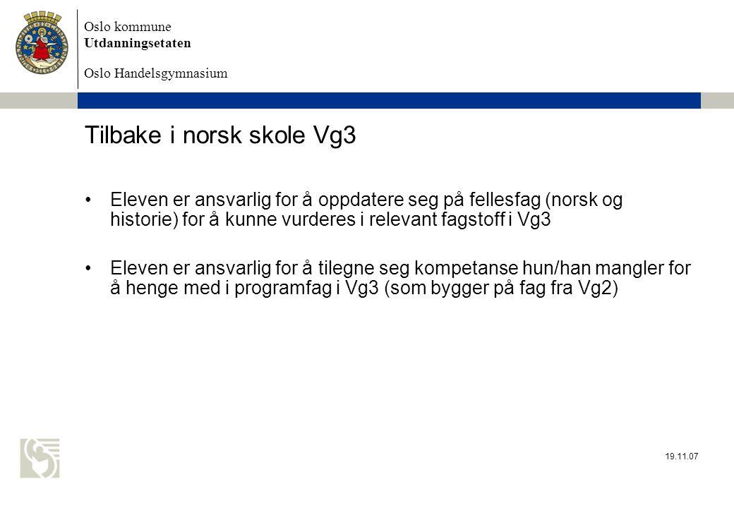 Tilbake i norsk skole Vg3