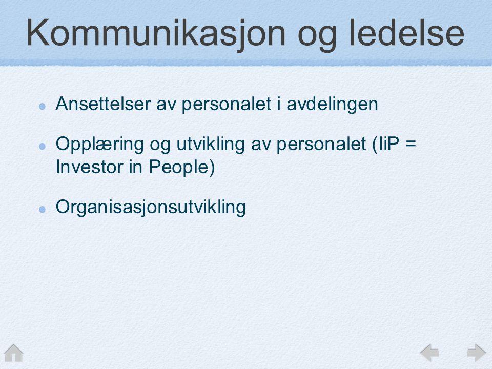 Kommunikasjon og ledelse