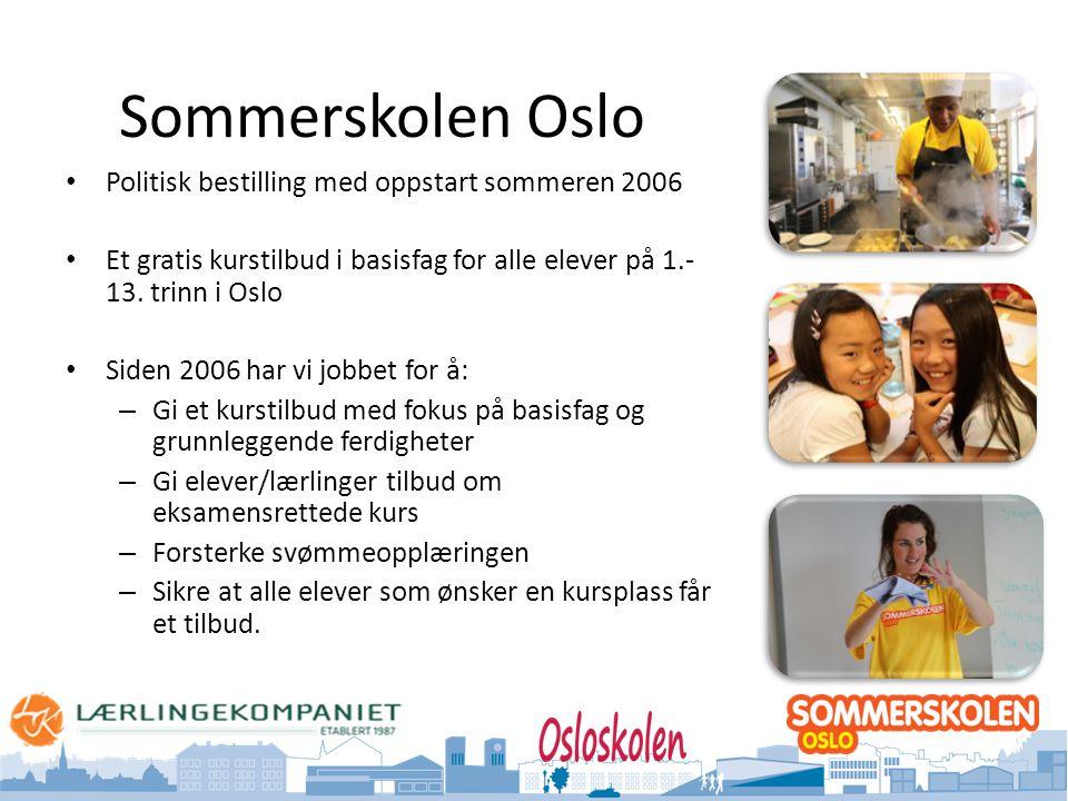 Sommerskolen Oslo Politisk bestilling med oppstart sommeren 2006