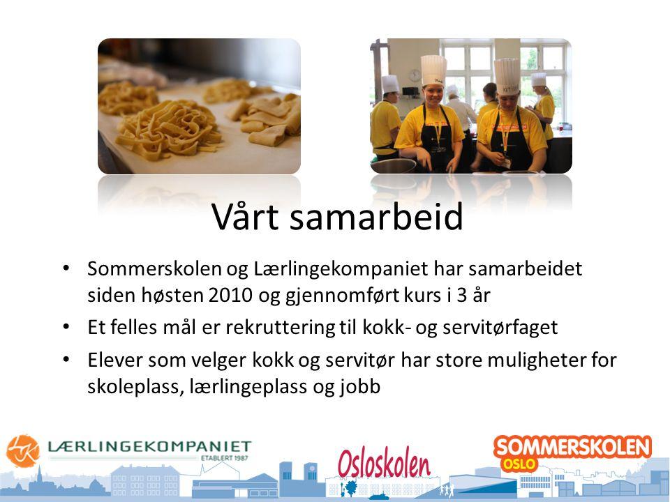 Vårt samarbeid Sommerskolen og Lærlingekompaniet har samarbeidet siden høsten 2010 og gjennomført kurs i 3 år.