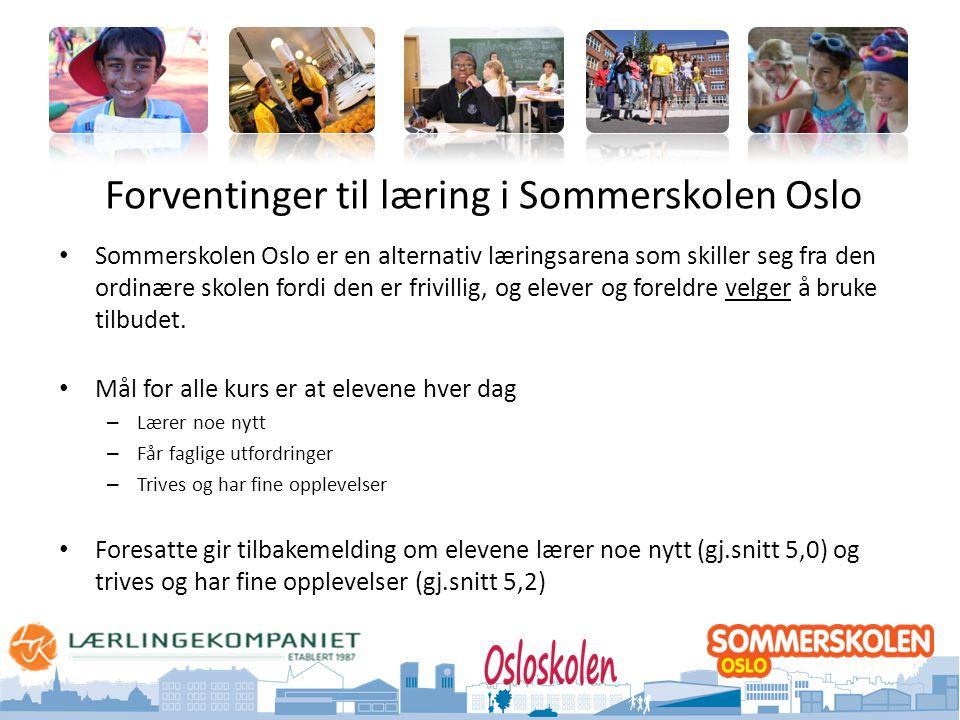 Forventinger til læring i Sommerskolen Oslo