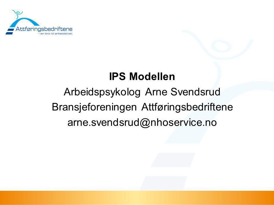 Arbeidspsykolog Arne Svendsrud Bransjeforeningen Attføringsbedriftene