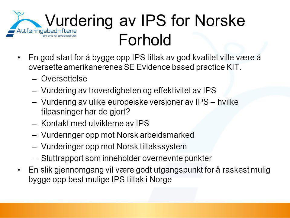 Vurdering av IPS for Norske Forhold