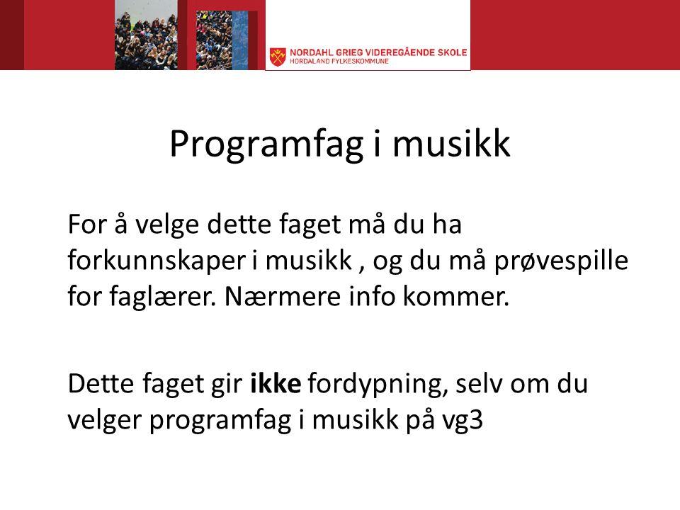 Programfag i musikk
