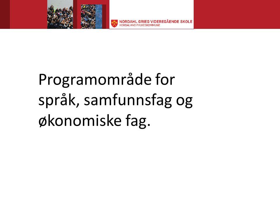 Programområde for språk, samfunnsfag og økonomiske fag.