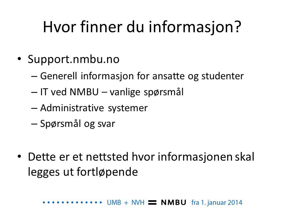 Hvor finner du informasjon