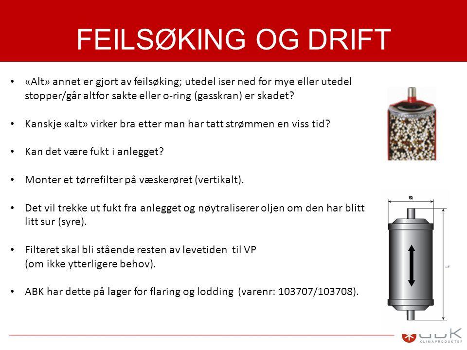 FEILSØKING OG DRIFT