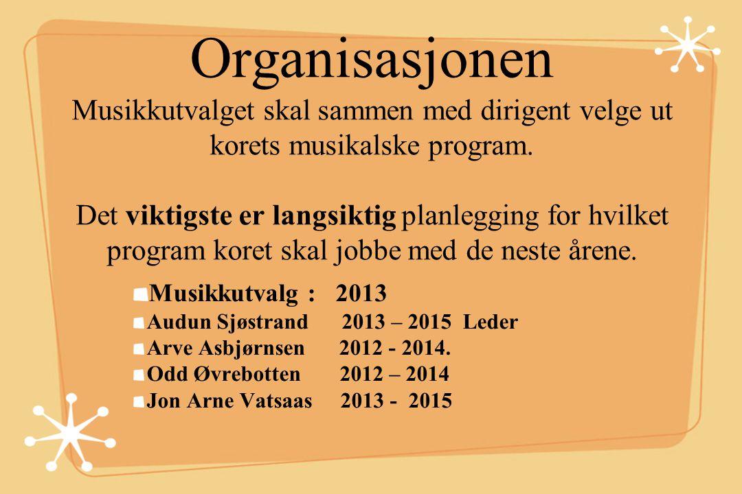 Organisasjonen Rekrutteringskomiteen skal aktivt jobbe for å verve nye medlemmer. Foreslå tiltak som kan få nye sangere til å forsøke vårt kor.