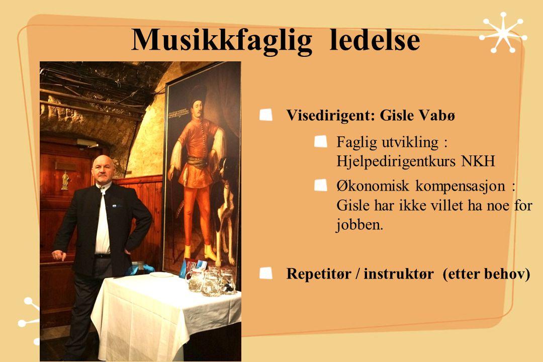 Musikkfaglig ledelse Vikardirigent Bjørn Lien.