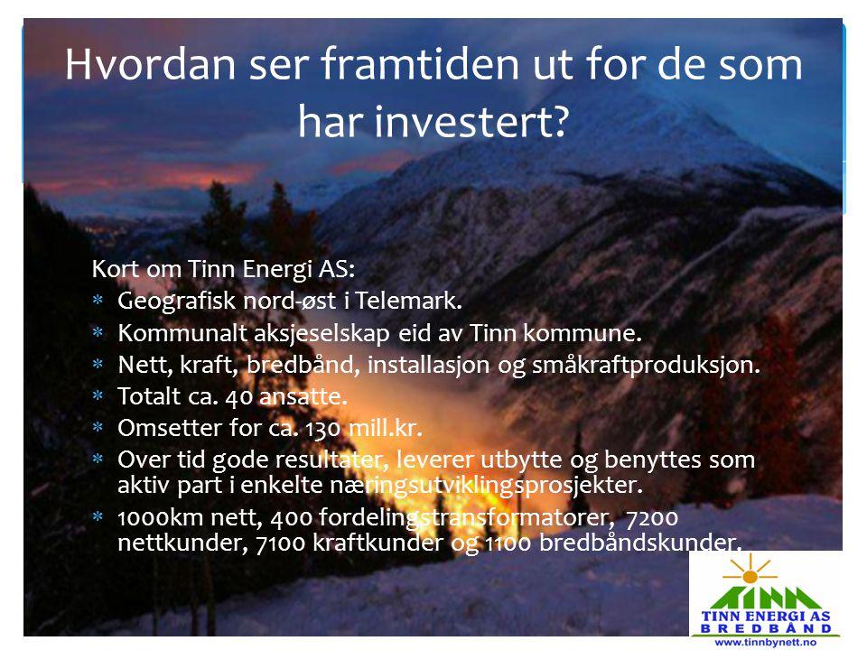 Hvordan ser framtiden ut for de som har investert
