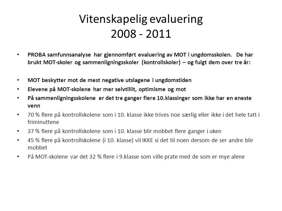 Vitenskapelig evaluering 2008 - 2011
