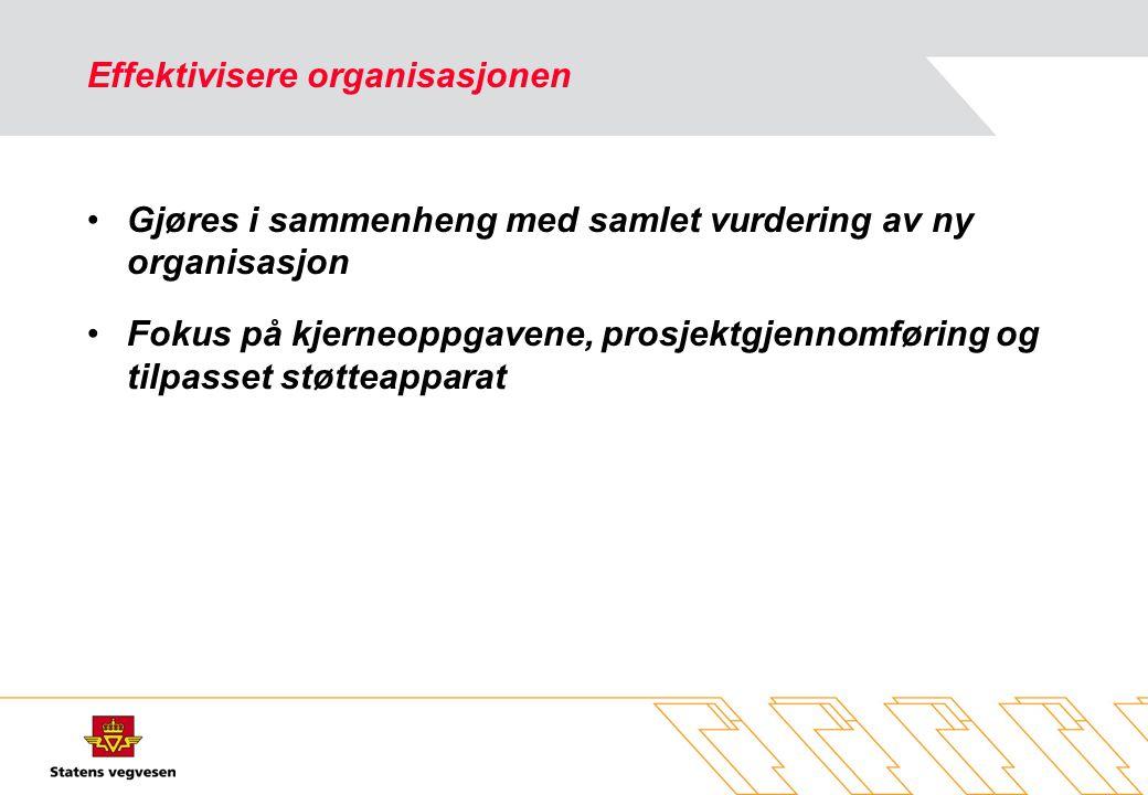 Effektivisere organisasjonen