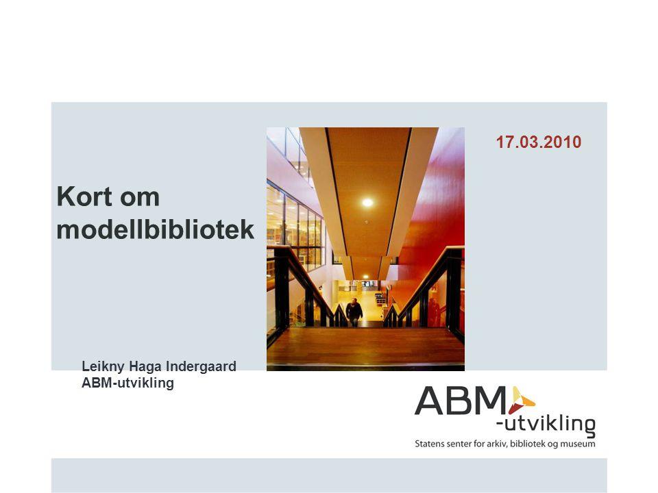Kort om modellbibliotek