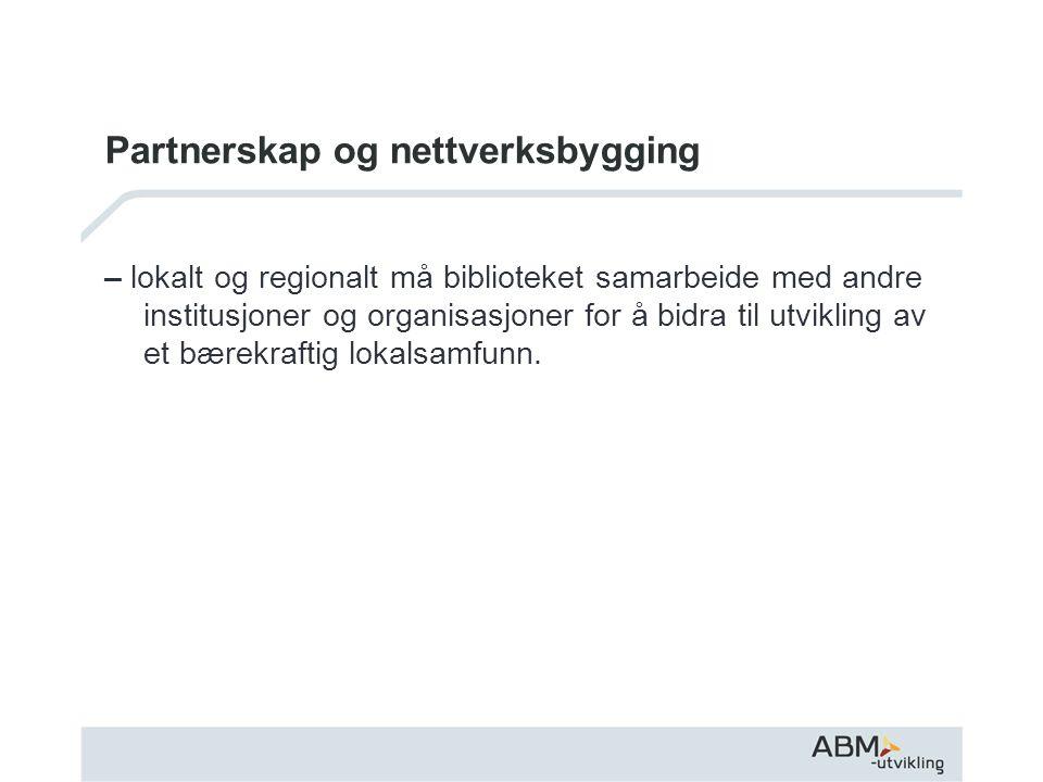 Partnerskap og nettverksbygging