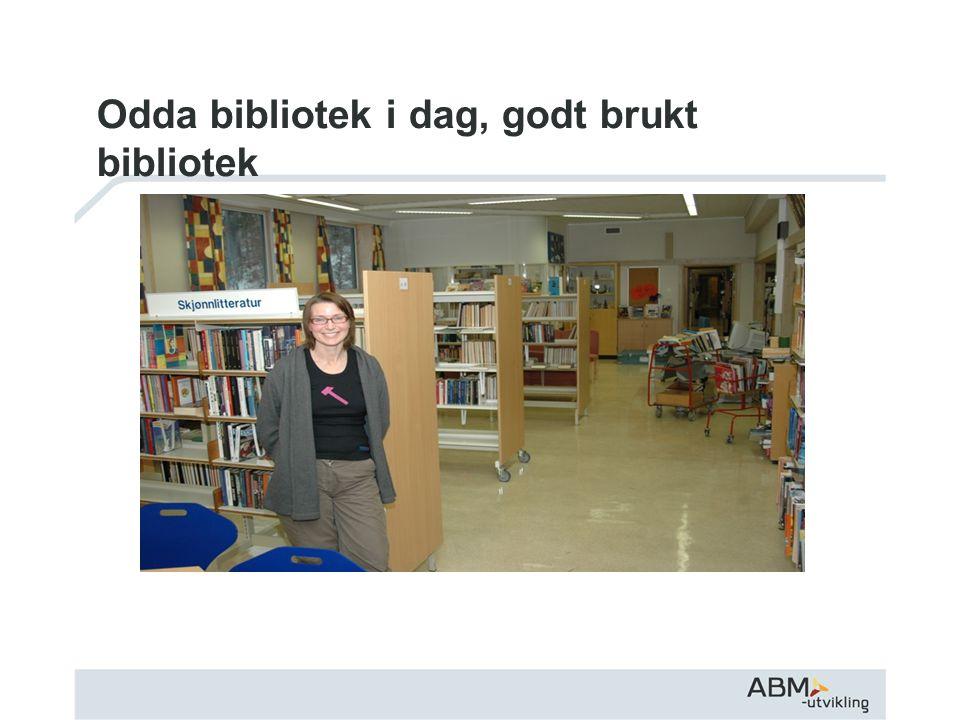 Odda bibliotek i dag, godt brukt bibliotek