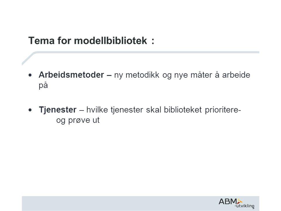Tema for modellbibliotek :