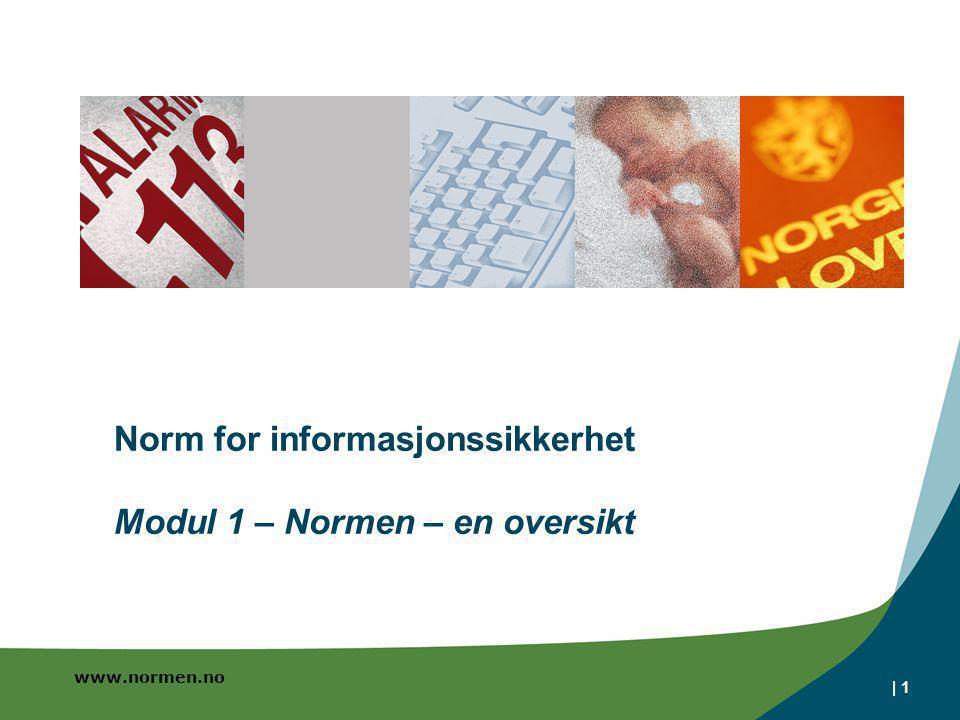 Norm for informasjonssikkerhet Modul 1 – Normen – en oversikt