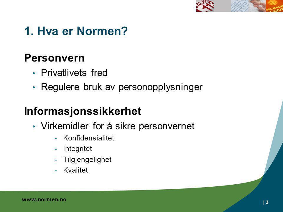 1. Hva er Normen Personvern Informasjonssikkerhet Privatlivets fred